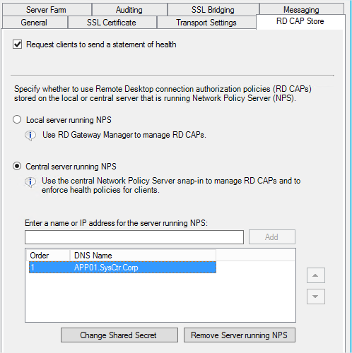 Configure Remote Desktop Gateway to use Multi-Factor