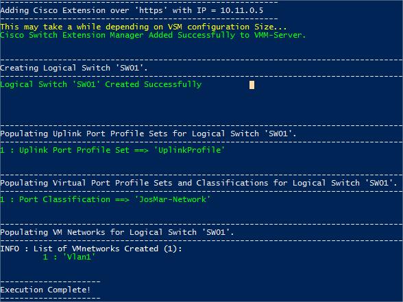 Add the Cisco Nexus 1000V VSM to SCVMM