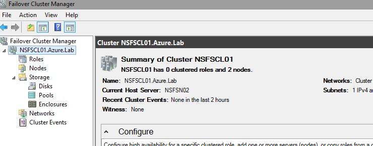 Building / Configuring Nano Server Cluster
