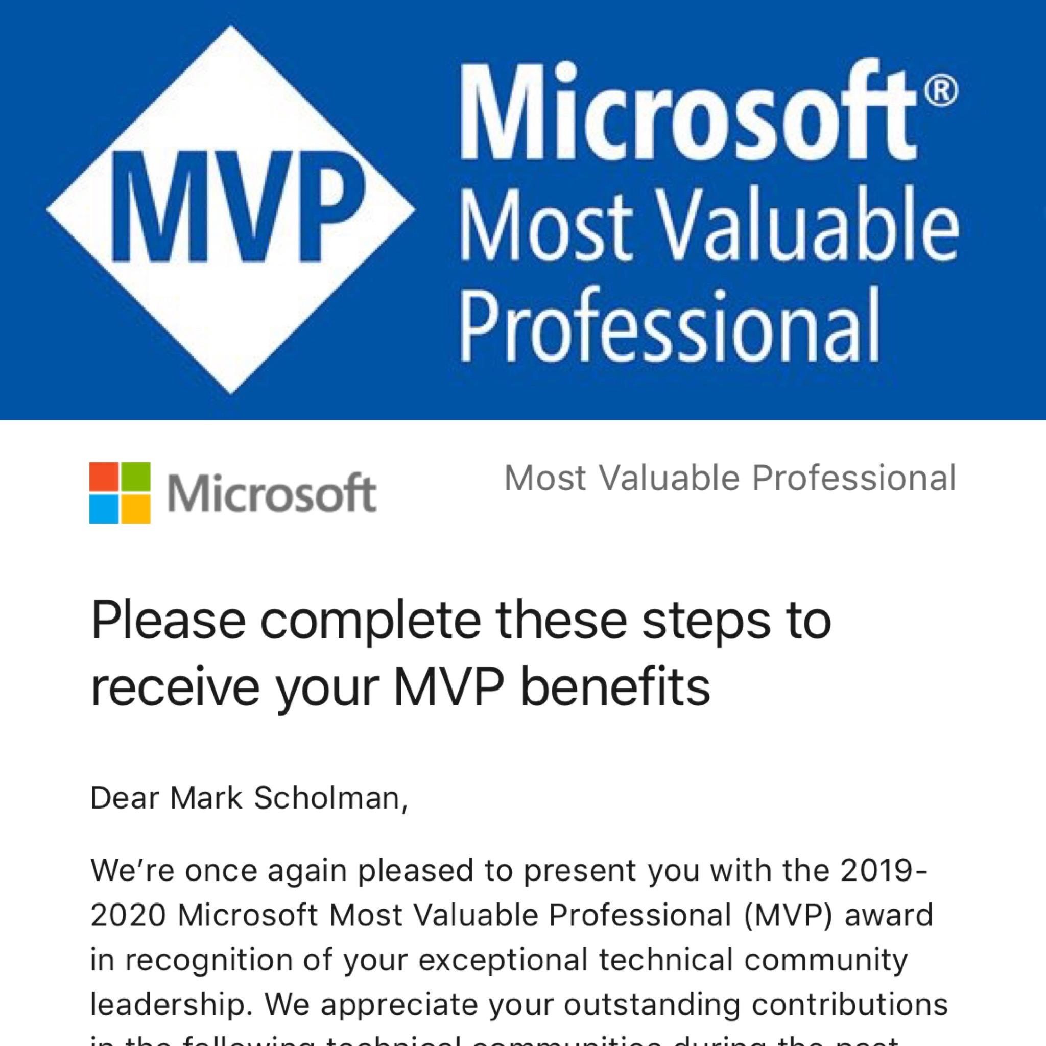 Microsoft Azure MVP 2019-2020